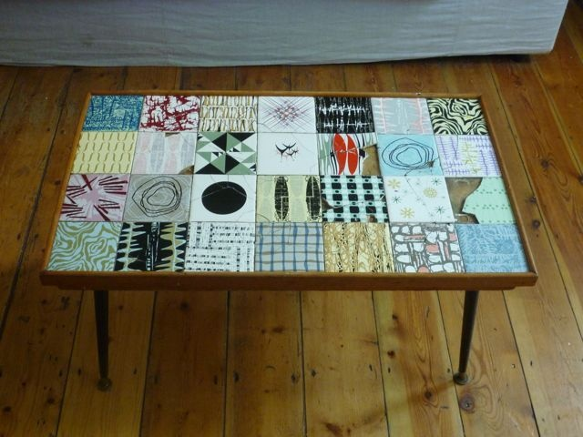 this could be a diy project tiles in collage form in a