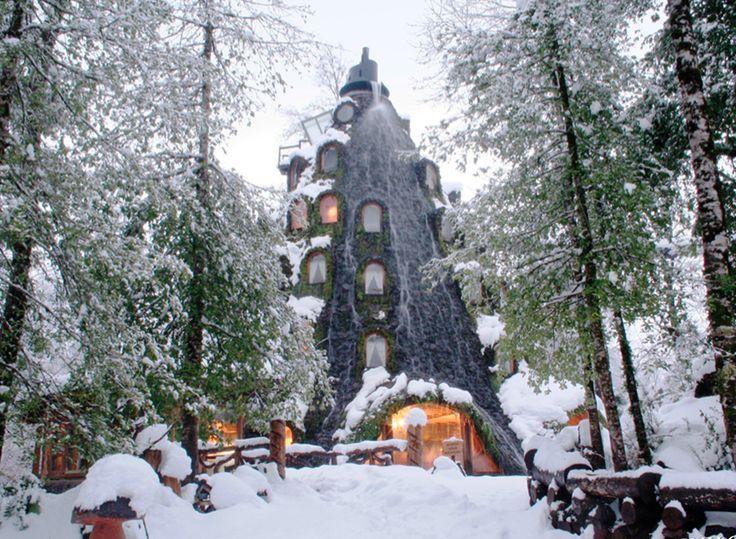 El Lodge en invierno Huilo.