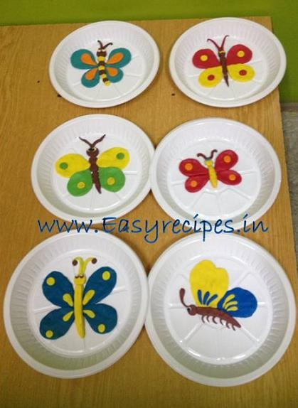 Clay Model Butterfly for kids competition