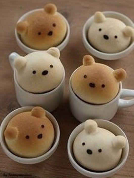 Chlebowe misie!!!! ♥ Super pomysł na śniadanie dla ukochanej osoby ♥