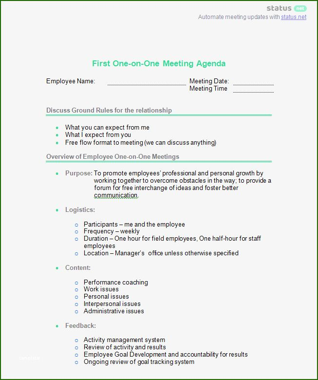 11 Remarkable One On One Meeting Template Excel In 2020 Agenda Template Meeting Agenda Template This Or That Questions