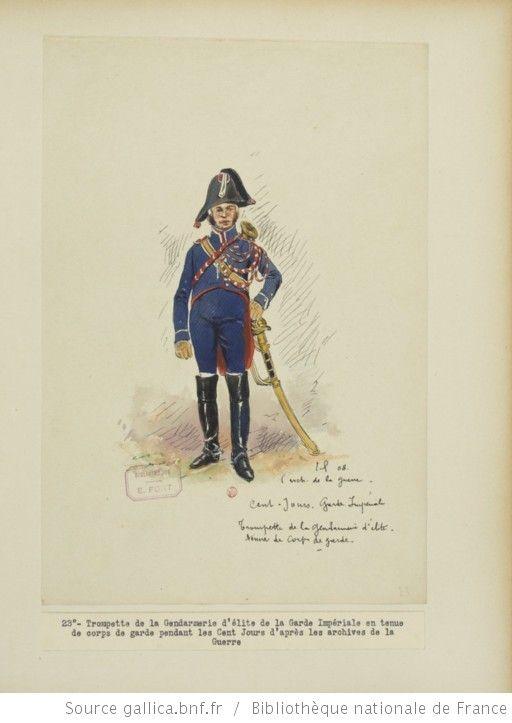 [Grenadiers-gendarmes, gendarmerie d'élite de la garde des consuls et de la garde impériale, 1793-1815 / Notes et aquarelles par E. Fort.] - 37