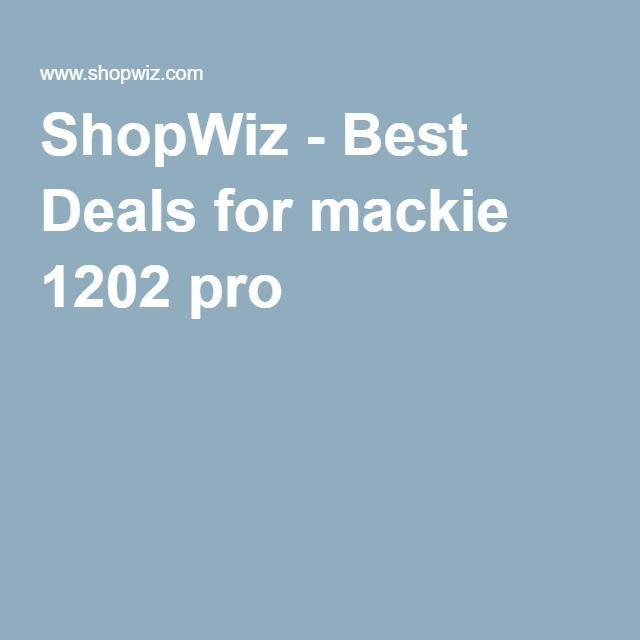 ShopWiz - Best Deals for mackie 1202 pro