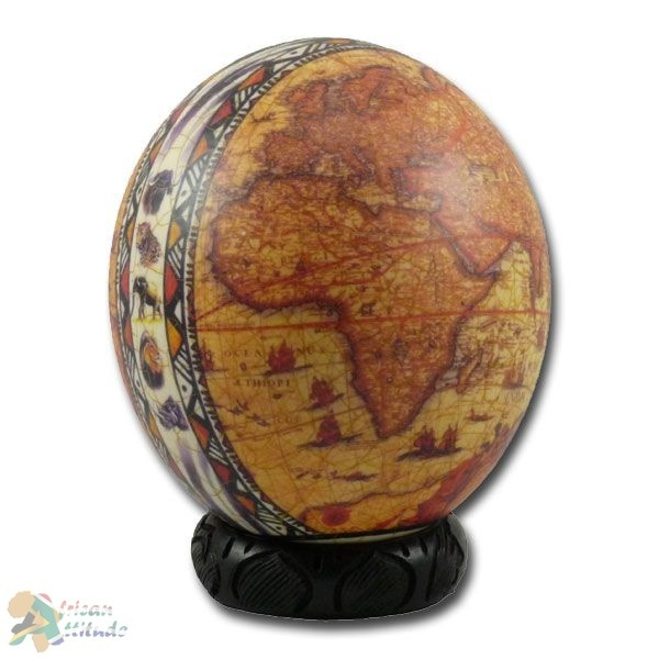 453 best think global images on pinterest world globes maps and ostrich egg globe done in style of antique map with pole to pole band of exotic animals gumiabroncs Gallery