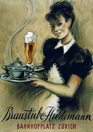 vintage swiss beer poster - Google Search