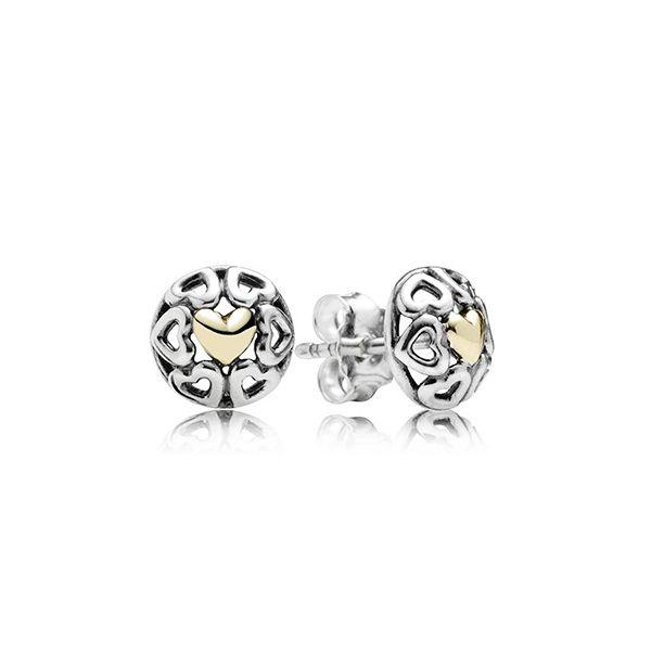 Openwork Heart Stud Earrings [290557] - £30.00 :