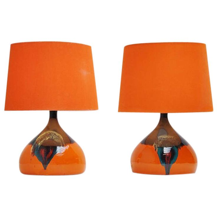 Bjørn Wiinblad Pair Of Table Lamps For Rosenthal 1970 | From a unique collection of antique and modern table lamps at http://www.1stdibs.com/furniture/lighting/table-lamps/