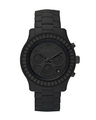 Michael Kors Blackout Silicone Watch #ArtieBobs #MensFashion