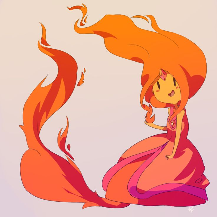 Flame Princess From Adventure Time | Flame Princess by ~vanilla-beanie on deviantART