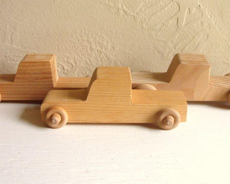 Wooden trucks to paint
