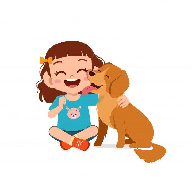 Feliz Lindo Nino Nino Nina Jugar Con Per Premium Vector Freepik Vector En 2020 Perros Para Ninos Perros Mascotas Perros Sonrientes