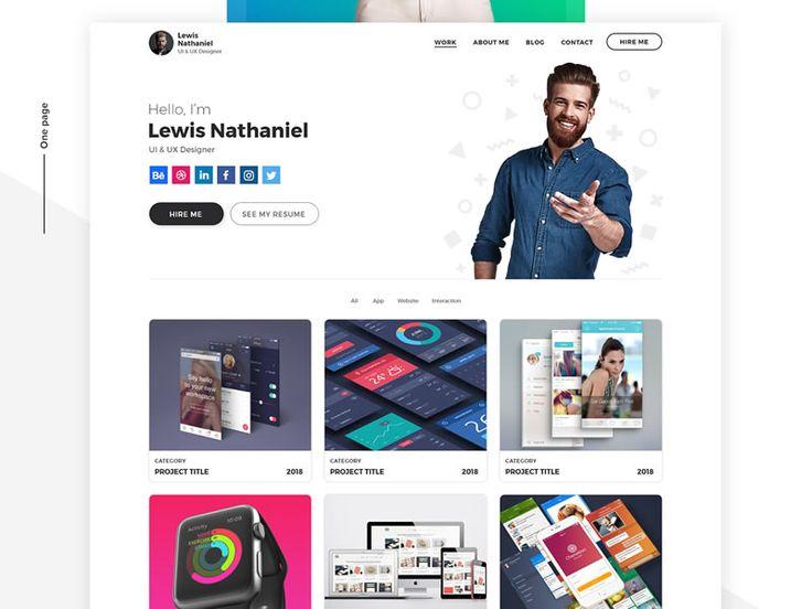 Free Designer Portfolio Template Psd Adobe Xd Psddd Co Portfolio Templates Portfolio Design Free Web Template