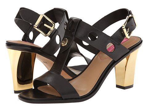 Isaac Mizrahi New York Sasha Black Leather - 6pm.com