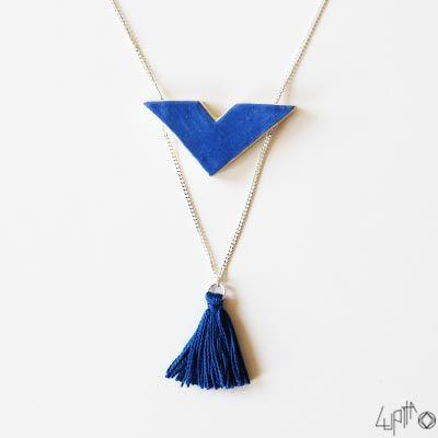 Le verso du sautoir Aoko - bijoux en céramique Lupita