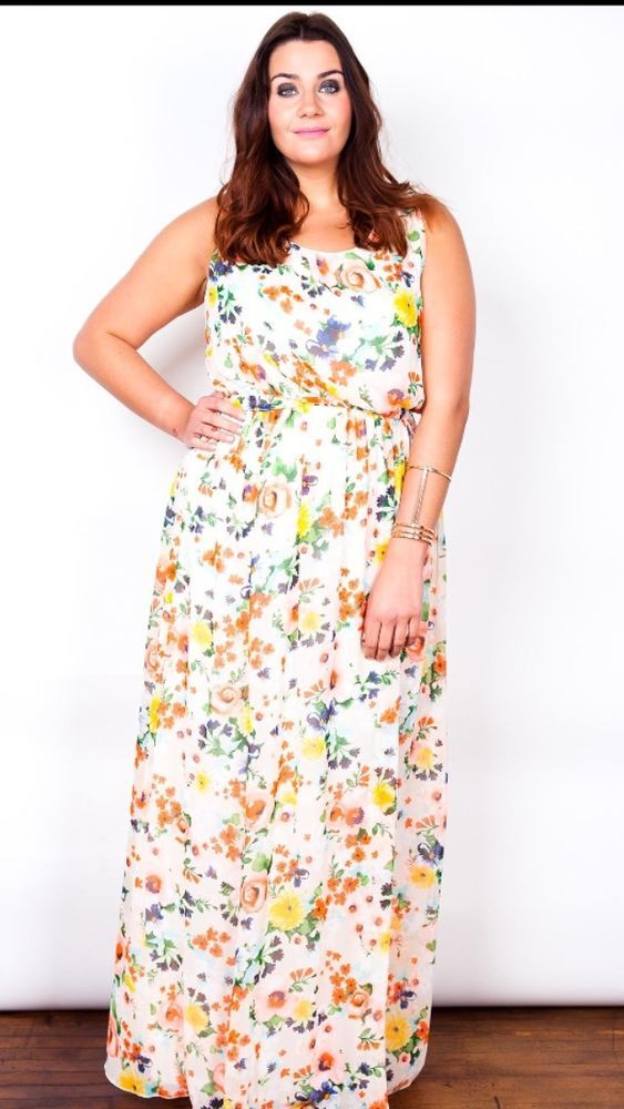 Details about Extra Long Tall (160cm) Floral Maxi Dress sizes 16/18 ...