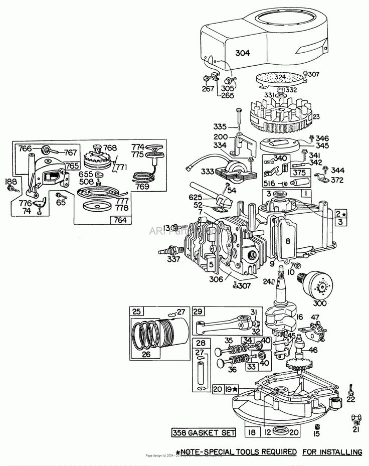 Briggs Stratton Engine Parts Diagram Briggs And Stratton ...