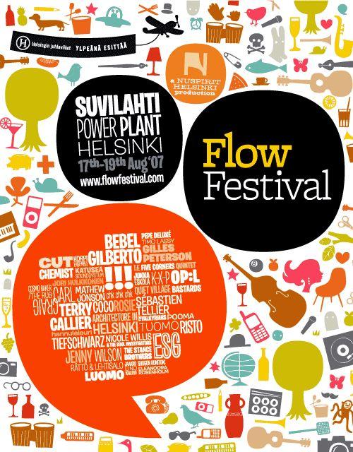 Juuso Koponen Flow Festival Poster Food FestivalDesign