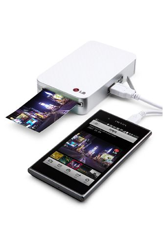 LG's Pocket Photo Mini Mobile Printer that connects to any Android phone via a cable or Bluetooth, so you can have tangible photos at your fingertips in an instant. The palm-sized device even has a handy-dandy photo-editing app so you can eliminate unwanted details for picture perfection. LG Pocket Photo Mini Mobile Printer, $129, available at Amazon.