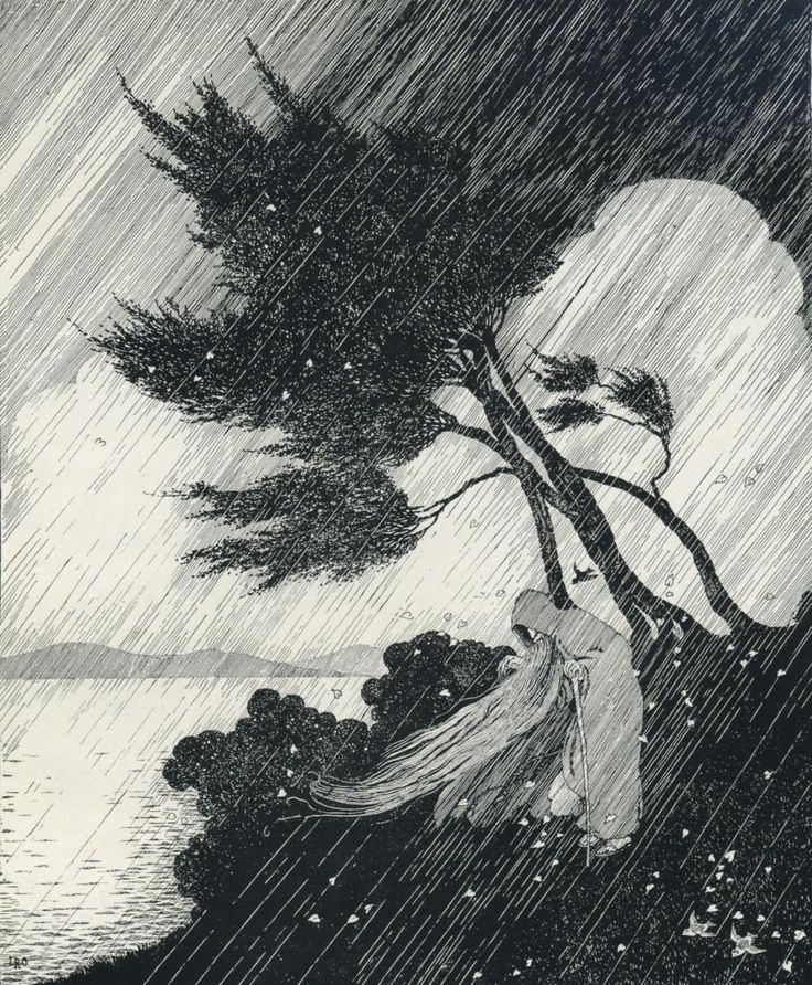 The Storm by Ida Rentoul Outhwaite