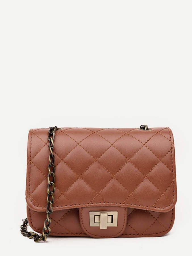 Twist Lock Quilted Chain Flap Bag   Bag lady   Pinterest   Bags ... bcfb893d23