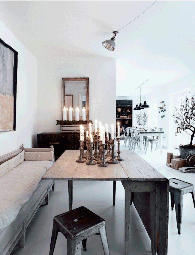 This all white, eclectically furnished home in Copenhagen, has been gently decorated for...