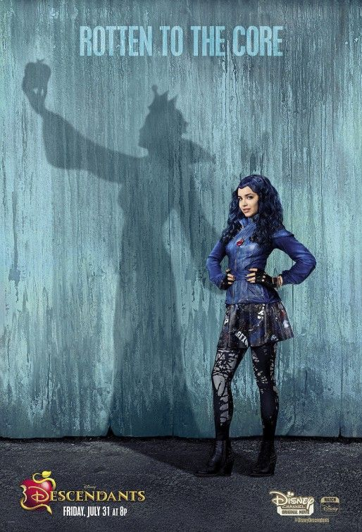 """Descendants"" Evie Evil Queen shadow ""Rotten to the Core"" poster"