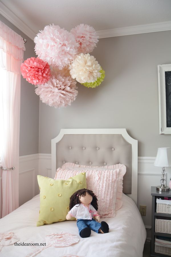 Make Some Lovely Tissue Pom Poms For Your Daughter S Room A Nursery Or An Upcoming