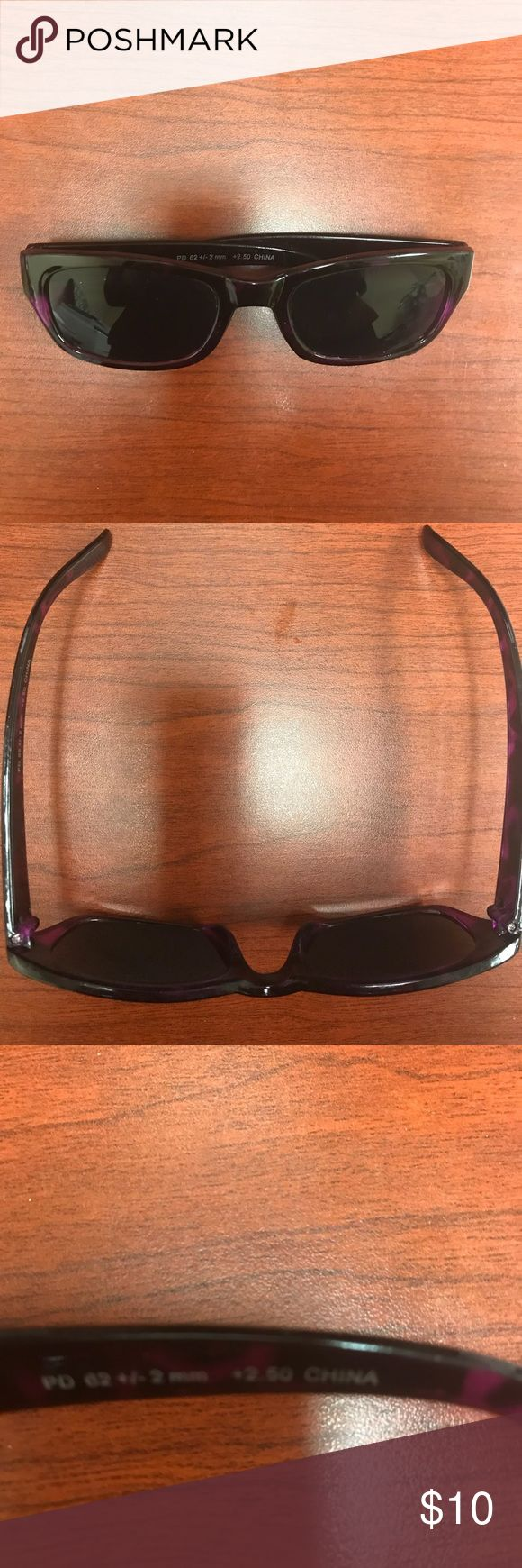NEW * Reader/RX Sunglasses from Catherine's, NEW! NEW * Reader/RX Sunglasses from Catherine's, NEW! Color: Black/Plum. Reader 2.5 sight strength. Bought & never worn ~ Absolutely PERFECT! Catherines Accessories Sunglasses