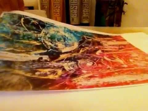▶ Mixed Media : Acrylic Skins from prints and magazine - YouTube