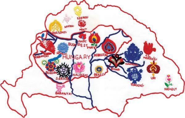 Hungarian regional cultural embroidery styles