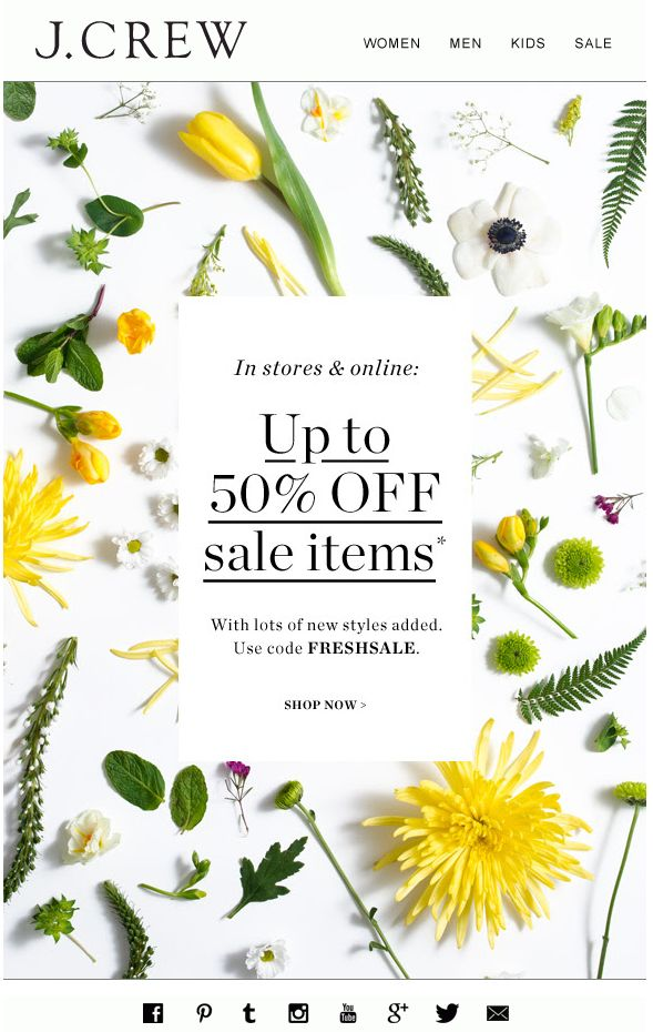 J.CREW : SALE newsletter, email design  www.datemailman.com