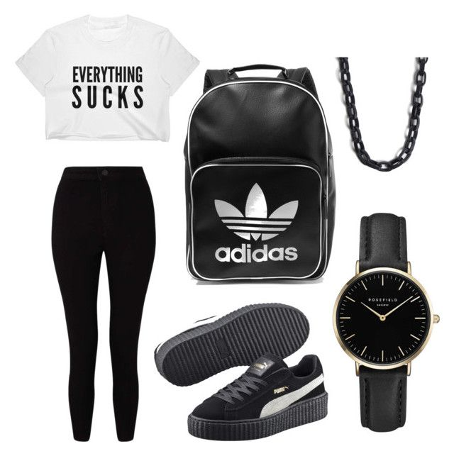 """""""Everyday set"""" by froogface ❤ liked on Polyvore featuring Miss Selfridge, Puma, adidas Originals, ROSEFIELD and 'S MaxMara"""