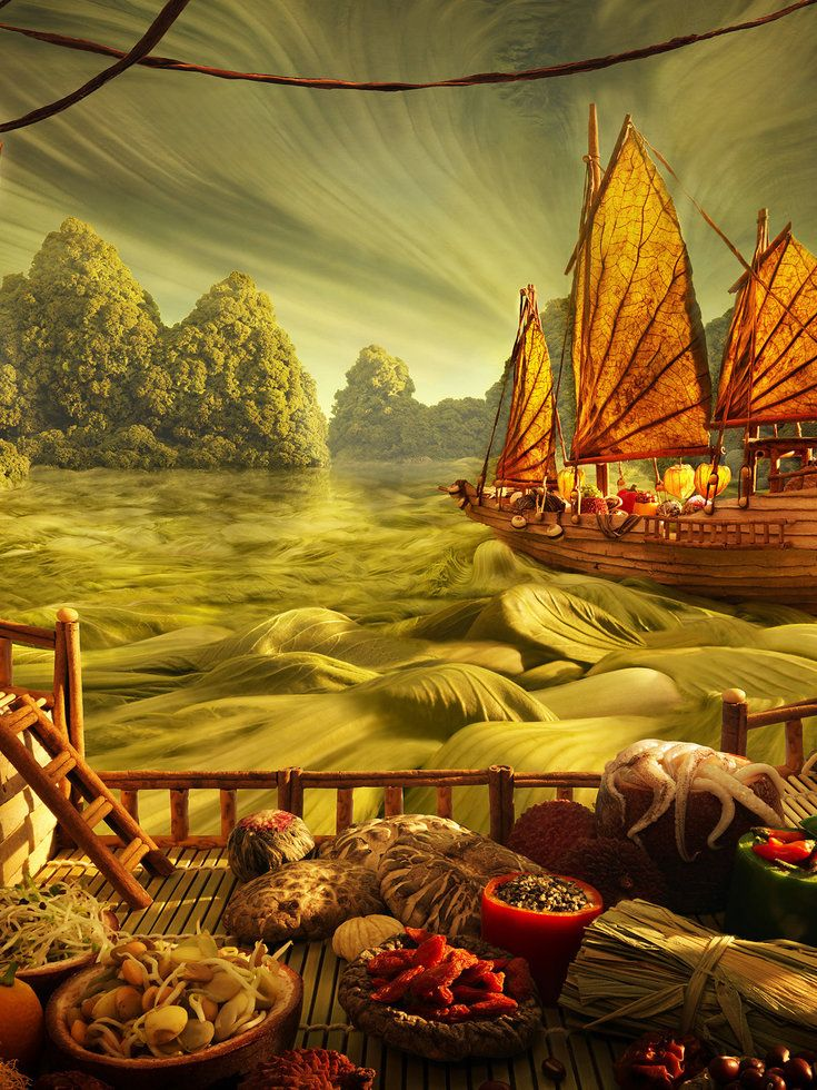 These picturesque landscapes are made out of food! Click through to see more of the surreal images.