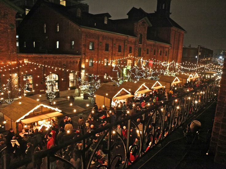 The Toronto Christmas Market in the distillery district is one of the best in the world!