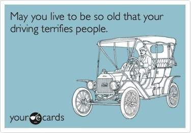 Driving Terrifies People - Funny Birthday E-Card
