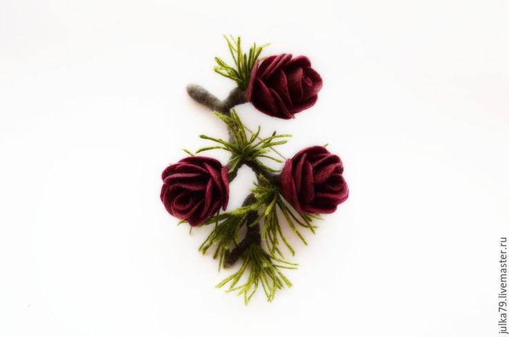 Купить Полярная роза - бордовый, лиственница, полярная роза, роза, розы, сибирская роза