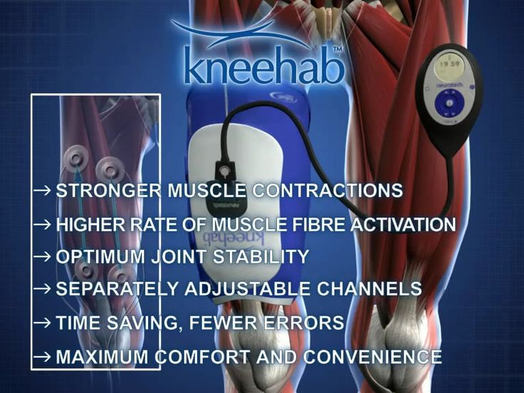 Kneehab XP is a unique, innovative and clinically proven, garment-based NMES therapy system specifically designed to treat quadriceps atrophy (thigh muscle wasting).