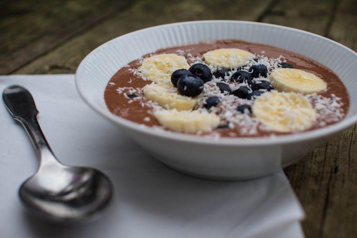 Chokoladegrød m. banan og kokos