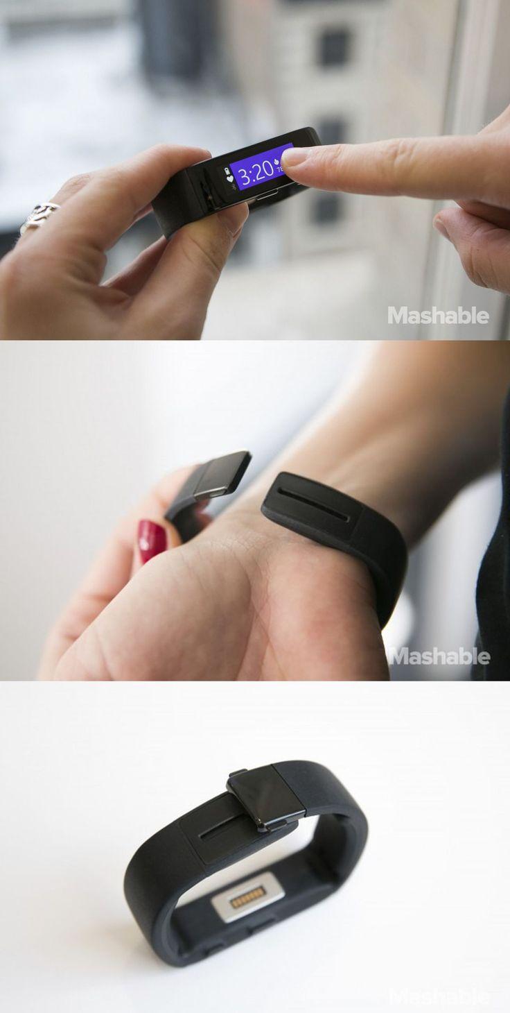 Microsoft's new health tracker the Microsoft Band.