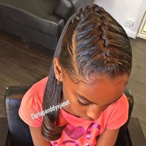 STYLIST FEATURE| How cute is this #underbraid #ponytail styled by #LAStylist @curlupanddyejanet Perfect for all ages #VoiceOfHair ========================= Go to VoiceOfHair.com ========================= Find hairstyles and hair tips! =========================