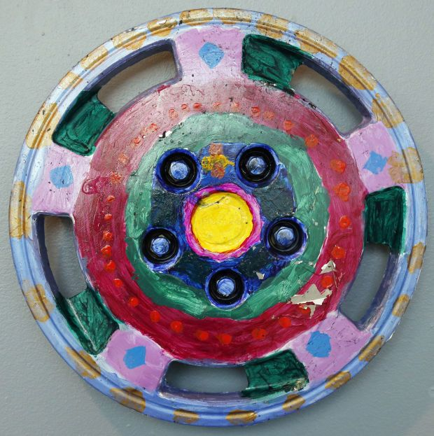 Hubcap Art at the Sioux City Art Center