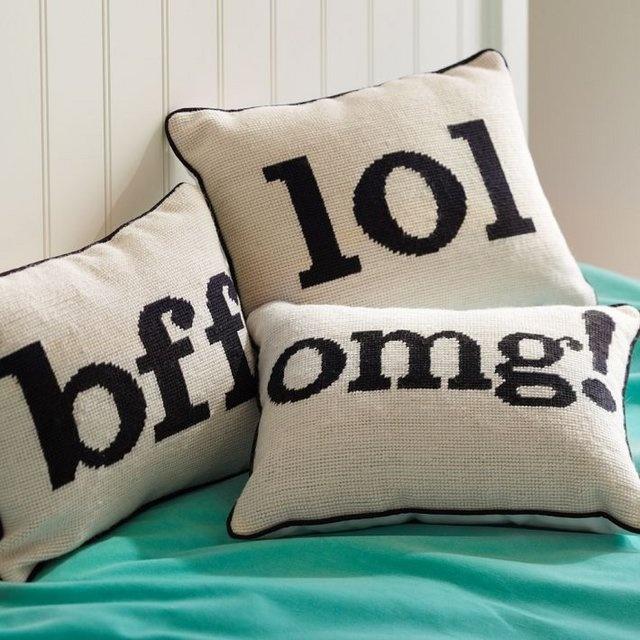 Text Talk Pillow · $37.00