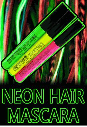 Blacklight Responsive Neon Hair Mascara Set