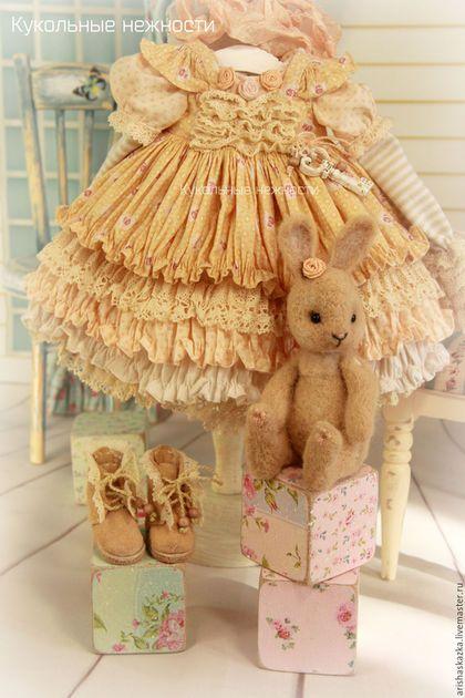 Одежда для кукол ручной работы. Заказать Комплект для куклы стиль бохо , шебби…