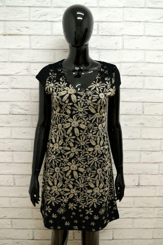 info for 998d8 cce6e Vestito Donna DESIGUAL Tubino Nero Abito Dress Woman Taglia ...
