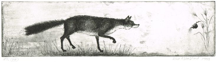 """Line Eskestad """"Fuchs und Maus"""", 1999, Vernis-mou-Strichätzung und Aquatinta"""