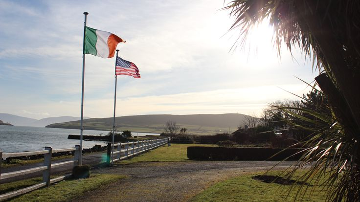 The view from Milltown House, Dingle. A bit of Irish-American pride!