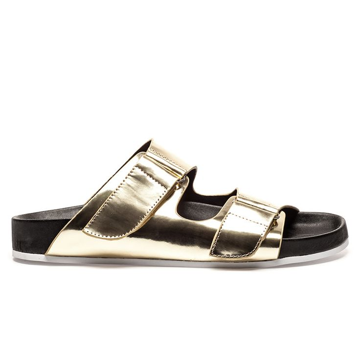 MOLLY Gold Mirror Leather Sandal - $27.50