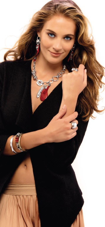 Global Traveller Limited edition collection beautiful necklace.  www.miglio.ca $175.00C N1290  Model not included!