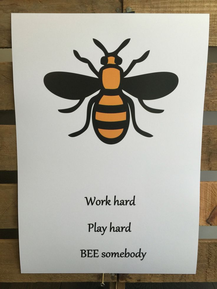 Manchester worker Bee  A3 print on 300gsm art card by TheNo71LegendRooms on Etsy https://www.etsy.com/uk/listing/463158678/manchester-worker-bee-a3-print-on-300gsm